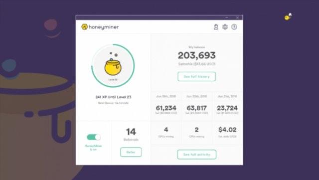 简单易用的比特币挖矿软件 Honeyminer